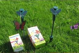 Commercio all'ingrosso libero di trasporto 72pcs Solar Power Flying Butterfly Garden Yard Decorazione solare butteryfly da farfalle decorazioni da giardino fornitori