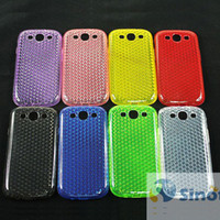 Wholesale Galaxy S3 Cases For Cheap - Cheap TPU Case Back Cover for Galaxy S3 SIII III 3 i9300 Skin Protector with Diamond Pattern 8 Color