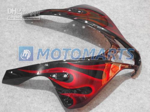 FÖRSÄLJNING! Red Flame Injection Fairing Kit för CBR600RR 2009 2010 2011 CBR 600RR CBR 600 RR F5 09 10 11