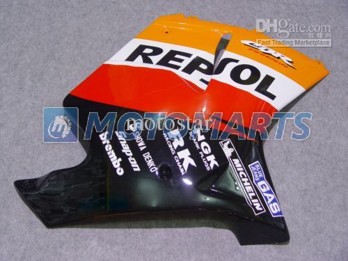 ホンダCBR1100ブラックバードCBR1000XX CBR 1100 1100XXフェアリングキットのためのオレンジ色のRepsolフェアリングキットをカスタマイズする無料