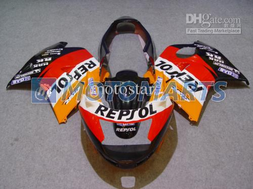 무료 혼다 CBR1100 블랙 버드 용 오렌지 REPSOL 페어링 키트 사용자 정의 CBR1000XX CBR 1100 1100XX 페어링 키트