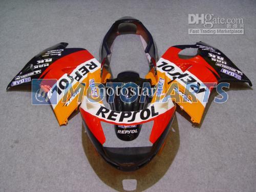 Frei anpassen orange REPSOL Verkleidung Kit für Honda CBR1100 schwarz Vogel CBR1000XX CBR 1100 1100XX Verkleidung Kit
