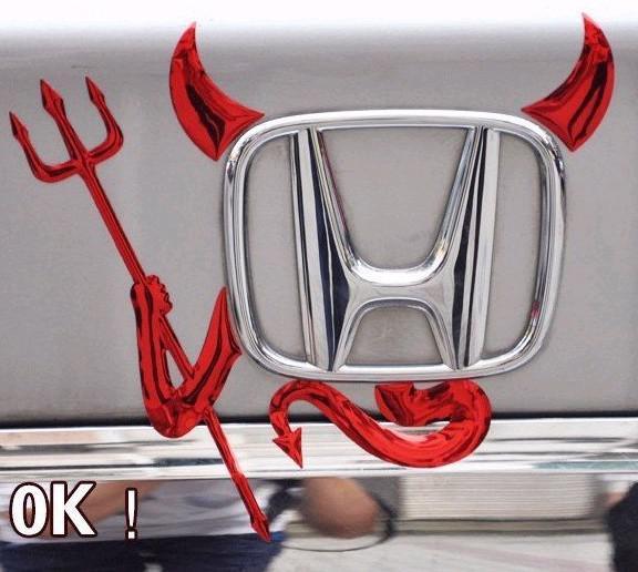 Auto Body Post 3D stéréo voiture PVC autocollants Argent Cool démon autocollants diable étiquette automobile