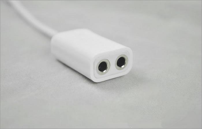 Jack cuffie da 3,5 mm Jack auricolari da 3,5 mm Jack cuffie stereo da 3,5 mm a due jack femmina da 3,5 mm