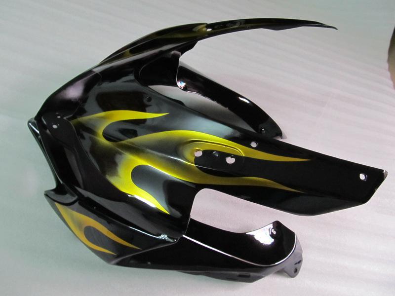Gold Flame Fairing Kit Passar till GSXR 600 750 2008 2009 K8 GSXR600 GSXR750 08 09 GSX-R750 GSX-R600
