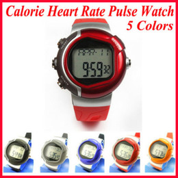 Wholesale Heart Battery Monitor - DHL free 30pcs lot digital Calorie Burned Heart Rate Pulse Sport Watch Wrist watch