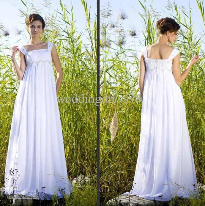 Discount A Line Cap Sleeves Empire Waist With Pleated And Beading Detail Chiffon Bridal Gown Wedding Dress Designer Wedding Gowns Gorgeous Wedding Dresses From Weddingdress98 80 33 Dhgate Com