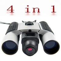 "Wholesale Digital Video Camera Binoculars - 1pcs lot 5X Digital Camera 3"" Binocular+PC Camera+Digital Video 4 in 1 A38 2X-7X CMOS"