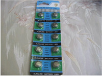 Wholesale Button Calculator - 200pcs lot LR44-357 SR44 AG13 electronic AG13 button battery AG13 batteries for watch,calculator etc