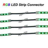 tiras de soldadura al por mayor-30PCS 4PIN 10MM SMD 5050 RGB Conector de luz de tira LED con cable sin soldadura
