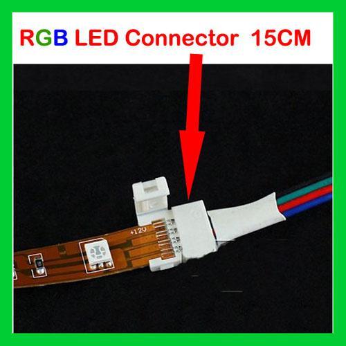 RGB 4ピン10mm LEDストリップコネクタSMD5050 RGB LEDストリップライト用はんだ付け