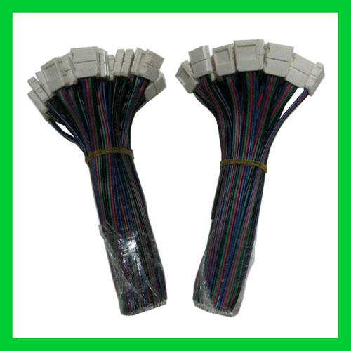 Conector da tira do diodo emissor de luz do RGB 4PIN 10MM nenhuma solda para a luz de tira do diodo emissor de luz de SMD5050 RGB
