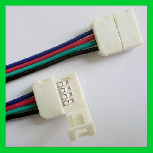 Conector de tira RGB 4PIN 10MM LED sin soldadura para luz de tira SMD5050 RGB LED