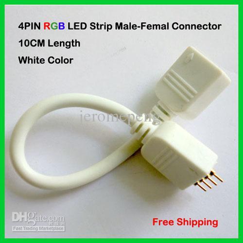30ピン4ピンの男性の女性LEDストリップコネクタが簡単10mm 5050 RGB LEDストリップライトに接続