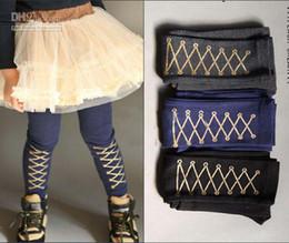 Wholesale Casual Dress Pant Legs - 10pcs lot girl cute shoelace print legging,kids slim tight,fashion dress legging,casual cotton pants