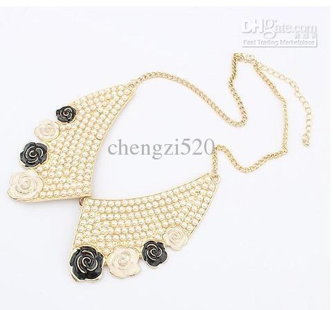 Colliers De Perles Faux De Rose De Collier De Mode