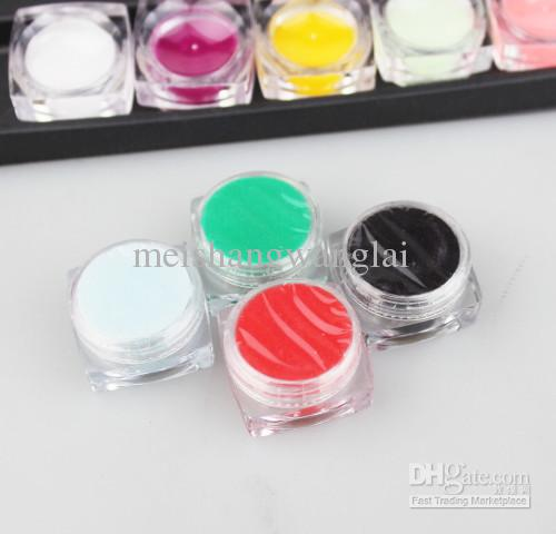 18 unids / lote es Polvo Tallado Patrón Polvo Tallado Colorido Para Uñas de Arte Kit de Uñas Glitte