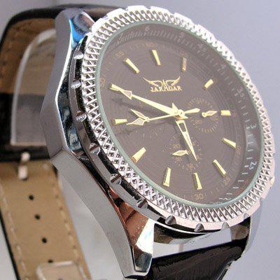자라 가르 화이트 다이얼 남성 가죽 다이브 시계 스테인레스 럭셔리 자동 기계식 손목 시계