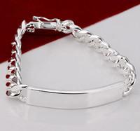 925 silbernes armband großhandel-Gute verkaufenmänner Schmucksachen 925 Silber 5pcs 8mm / 10mm Identifikationketten der Männer Armband 8,0inch Qualität