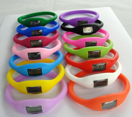 Wholesale Silicone Negative Ions Sports Bracelets - 1000PCS Anion Negative Ion Energy Watch Silicone Bracelet Sports Health Sport Girl Boy Men's Watches