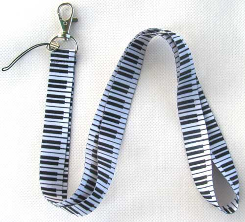 Klavier und Symbole Muster Handy Lanyard Key Card ID Neck Straps * KOSTENLOSER VERSAND