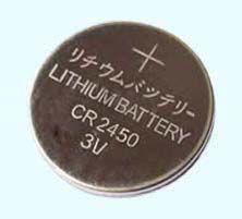QUENTE! CR2450 bateria de lítio de 3V, célula de botão de RoHS passado, / frete grátis!