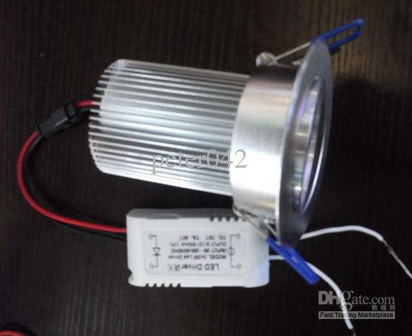 10 STKS 9W DIMBARE LED Downlight / 3 * 3W Spotlight / Dim 9W LED Plafondspotlight