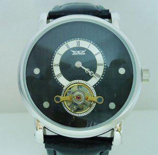 熱い高級自動メンズレザートゥールビリオン機械ダイブデザイナーメンズ腕時計スポーツジャラガール