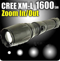 UltraFire 1600 Lm CREE XML XM-L LED Zoomable lanterna Zoom in / out Z4 Frete Grátis