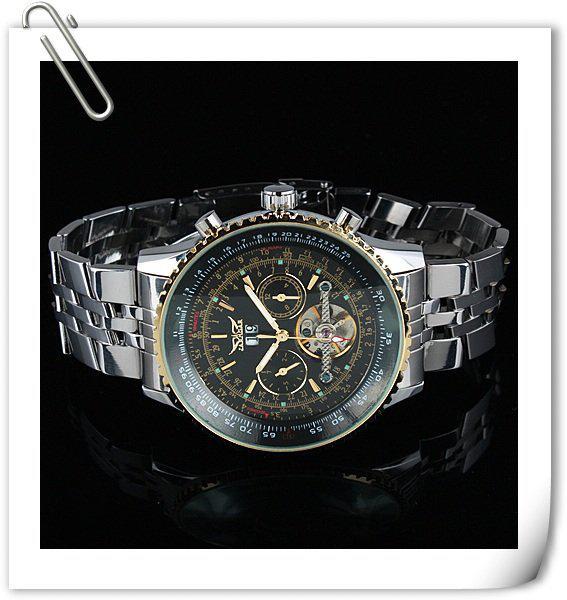 Homens de luxo jaragar relógios mecânicos aço inoxidável dia data mergulho mens tourbillion automático suíço