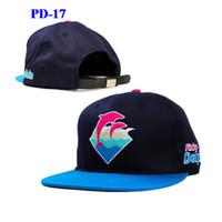 yeni yunus şapkaları toptan satış-Yeni Varış Pembe Yunus snapbacks şapkalar hip hop sokak giyim ayarlanabilir snapback şapka kap sıcak satış