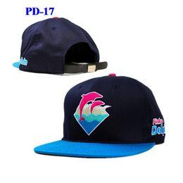 Wholesale Wholesale Street Wears - New Arrival Pink Dolphin snapbacks hats hip hop street wear adjustable snapback hat cap hot selling