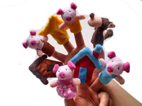 Wholesale Marine Finger Puppet - 1set Storytelling Prop Mini Cute Farm Animal Finger Puppet Toy for Preschool Children Many Different Style Xmas Gift Marine Chinese Zodiac