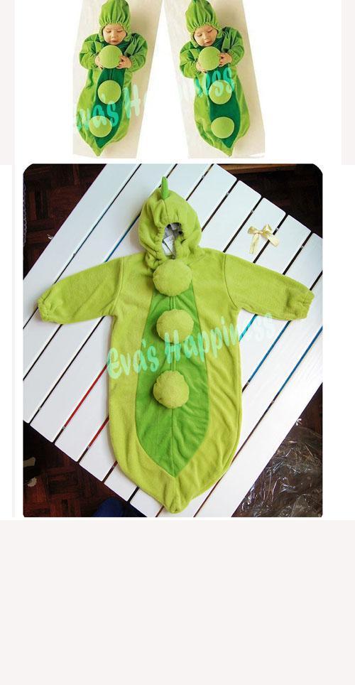 10 stks EMS Baby erwt Slaapzak Magic Sleep Bags Fleece Zuigeling Kinderen Groene Romper, één laag