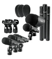 ingrosso batteria mic-Tamburo TAKSTAR DMS-8P di alta qualità a basso costo Set di serie calcio piccolo tamburo Condensatore Mic VIP