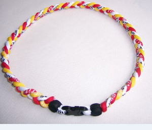 "Wholesale - 39 colors 3 ropes 3 Tornado Germanium TitaniumTornado Necklaces ,18"",20"",22"" +Retai on Sale"
