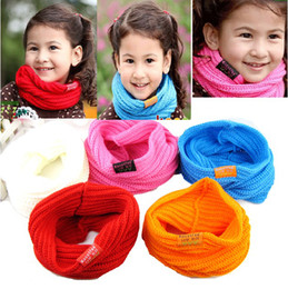 Wholesale Wholesale Child Ring Pink - Candy colors baby scarf of girls and boys children scarf   winter season 2-8 year-old