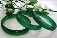Wholesale Enamel Cloisonne Bangle Bracelets - IMPERIAL GREEN NATURAL JADE BANGLE JADEITE BRACELET CHARM JEWELRY