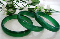 Wholesale Chinese Bracelet Charm Jade - IMPERIAL GREEN NATURAL JADE BANGLE Chinese JADEITE BRACELET CHARM JEWELRY Christmas gift