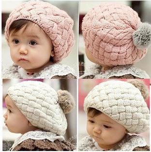 Großhandel Baby Gestrickter Hut Mädchen Barett Hut Kinder Gestrickte  Baskenmütze Beanie Baby Mütze Baby Mütze Von Charles27 abe26b49e62
