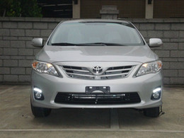 Wholesale Fog Lamp Corolla - Super Bright LED daytime running light DRL with fog lamp cover for Toyota Corolla 2010~2012, 1pair , free shipping