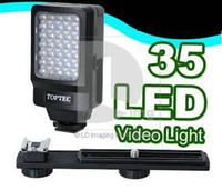 Wholesale Dv Video Light - Video Light DV-35 35 LED Video Light lamp for Camcorder Digital Video E9D AA battery