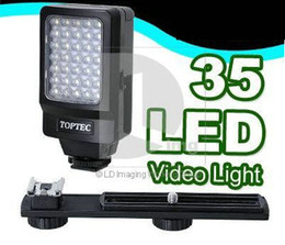 Wholesale Camcorder Led Light Video - Video Light DV-35 35 LED Video Light lamp for Camcorder Digital Video E9D AA battery