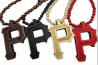 Wholesale Good Wood Hiphop Wholesale - Letter P Pendant New Wiz Khalifa Necklace Good Wood BLK hiphop HIHA.(10pcs lot).