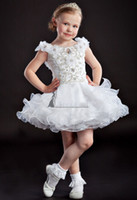 Christmas White Organza Beads Flower Girl Dress Girl's Skirt...