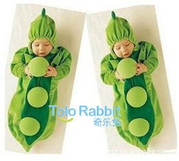 Wholesale Pea Sleeping Bags - Children's cartoon pea baby modeling clothes   pea shape sleeping bag, 5pcs lot,dandys