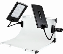 Wholesale Led Lights Panel Video - FALCONEYES Slim LED Panel Kit Set 2PCS SLP-200V Camera Led Video Lights LPK-2200V