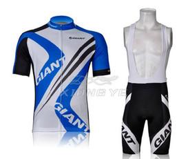 manga curta gigante azul Desconto Sportswear novo 2012 gigante manga curta ciclismo jerseys bib ciclismo calções set conjunto de roupas azul ginat ciclismo roupas bib calções