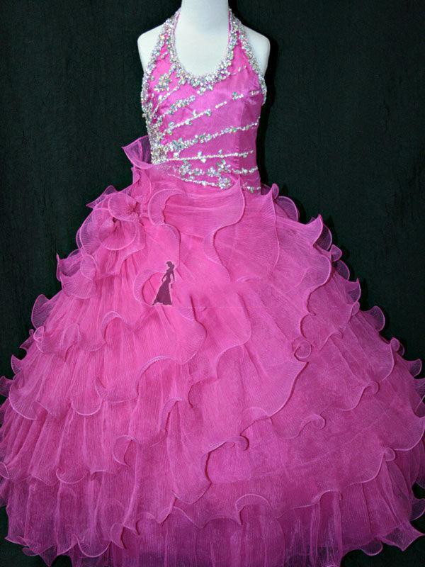 Navidad, rosa, rosa, blanco, vestido de niña de flores, falda de la muchacha, princesa, falda, vestido de desfile, tamaño personalizado 2 4 6 8 10 HF703031
