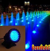 ingrosso illuminazione impermeabile per fontane-Completamente sommergibile 36 LED Spotlight Bule Aquarium LED Light Pond Fountain Lamp impermeabile Spot Light